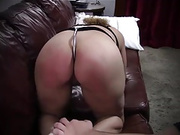 slave spanking and ass plug