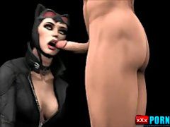 Catwoman and Harley Quinn have sex