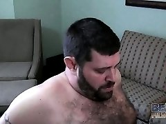 Chef Bear and Sid Morgan on the couch gay hardcore video