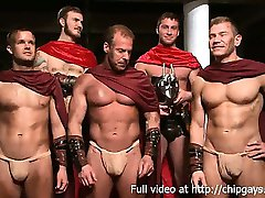 Hot gladiators in 4 hardcore fuck