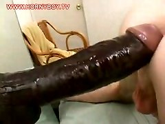Giant dildo for his ass