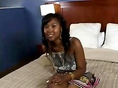 Awesome Ebony Teen Sucking Hot