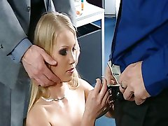 Blond secretary services her bosses