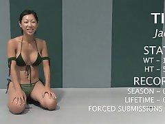 Sexy girls wrestling naked.