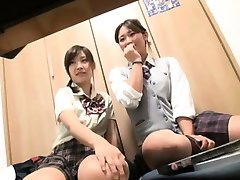 Warm blowjob from a hot schoolgirl
