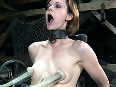 BDSM bondage sub penetrated by machine