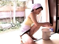 Cock riding by mature maid