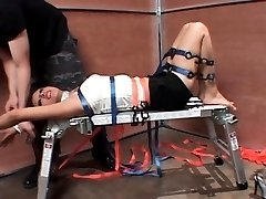 Tied up sex slave tortured and fucked hard