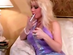 Hot Blonde MILF Smoking Compilation