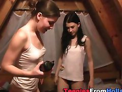 Showering teen lesbians make out and much more