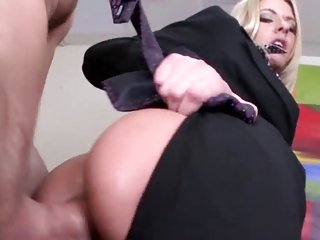 Superbly hot group anal sex in the office