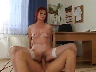 mature hairy redhead fucked