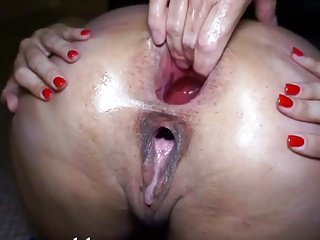 Daddy & His Cum Whore hard anal fist fuck cum