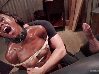 Humiliation of a black whore