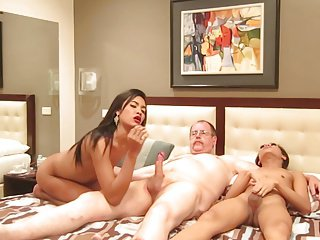 Ladyboy threesome