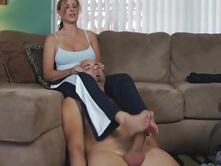 Mature Math Teacher Footjob