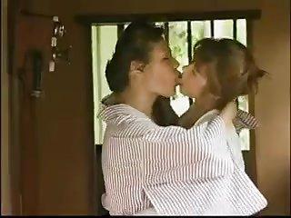 Mature Japanese Lesbians Kissing