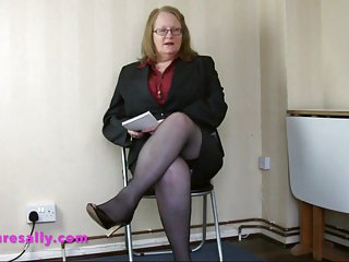 Mature Secretary wears a pantie girdle