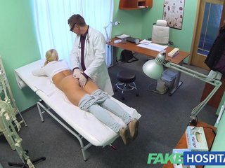 FakeHospital Blonde big tits nurse tryout