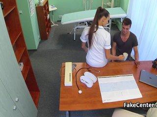Nurse tattooed pussy got wild fuck
