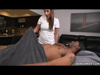 Big Booty Masseuse Wrecked By Black Dick