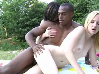 Black boy gets two hot ffm threesome sessions