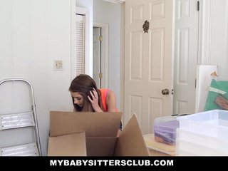 Petite Baby Sitter Fucked On New Years