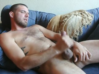 Friend cumming on my couch