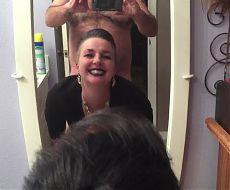 MILF Wife Fucking Vocal Orgasm in Bathroom Mirror