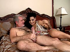 Aimee Black takes a ride on a guy's big hard cock