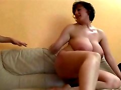 Mature lady with really huge boobs getting fucked